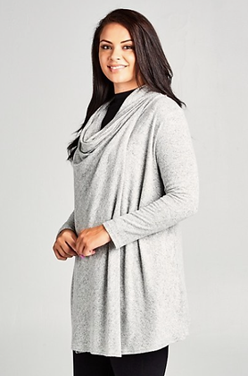 Heather Grey Plus Cardiwrap