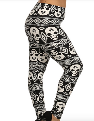 OG Skulls Plus Leggings