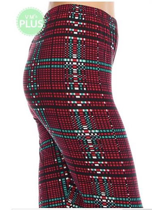 Holiday Plaid Plus Leggings