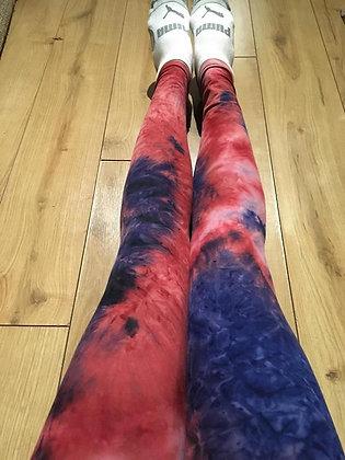 Pink Tie Dye Plus Leggings