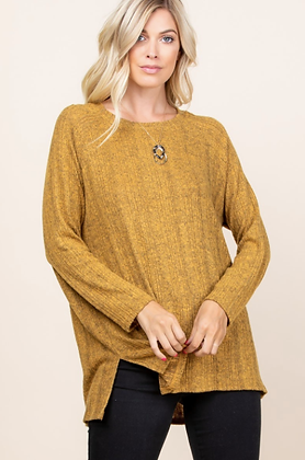Colleen Plus Sweater - Mustard