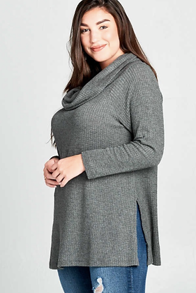 Charcoal Genevieve Plus Sweater
