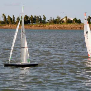 Darryl Branthwaite sailing 'BC'  and Phil Morrow sailing 'Mystique'