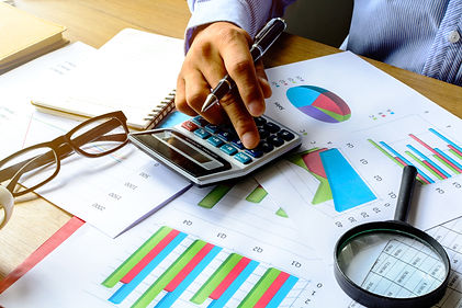 accountant working UHY colours in image