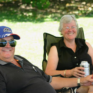Kevin & Judy were keen spectators for the two days