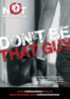 Cooper Mckenzie Marketing designed poster for NOT in our Town