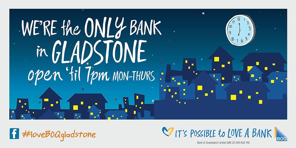 Cooper McKenzie Marketing advert design for BOQ Gladstone