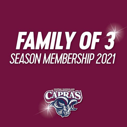 2021 FAMILY OF 3 Season Membership