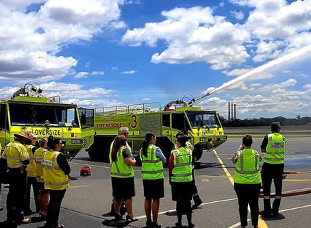 Playing it safe: Gladstone Airport puts safety on show