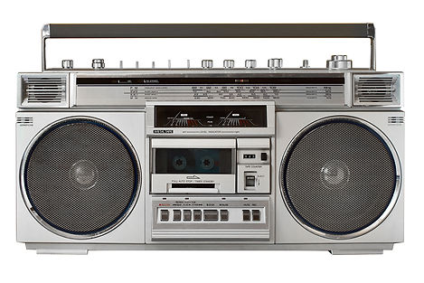 Stock image of a retro cassette radio to portray that Cooper McKenzie Marketing designed the radio advert for Wares