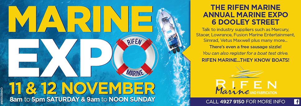 Marine Expo Press advert designed by CMM