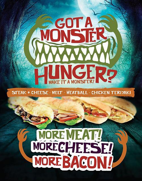 Got a Monster Hunger? Campaign designed by Cooper McKenzie Marketing