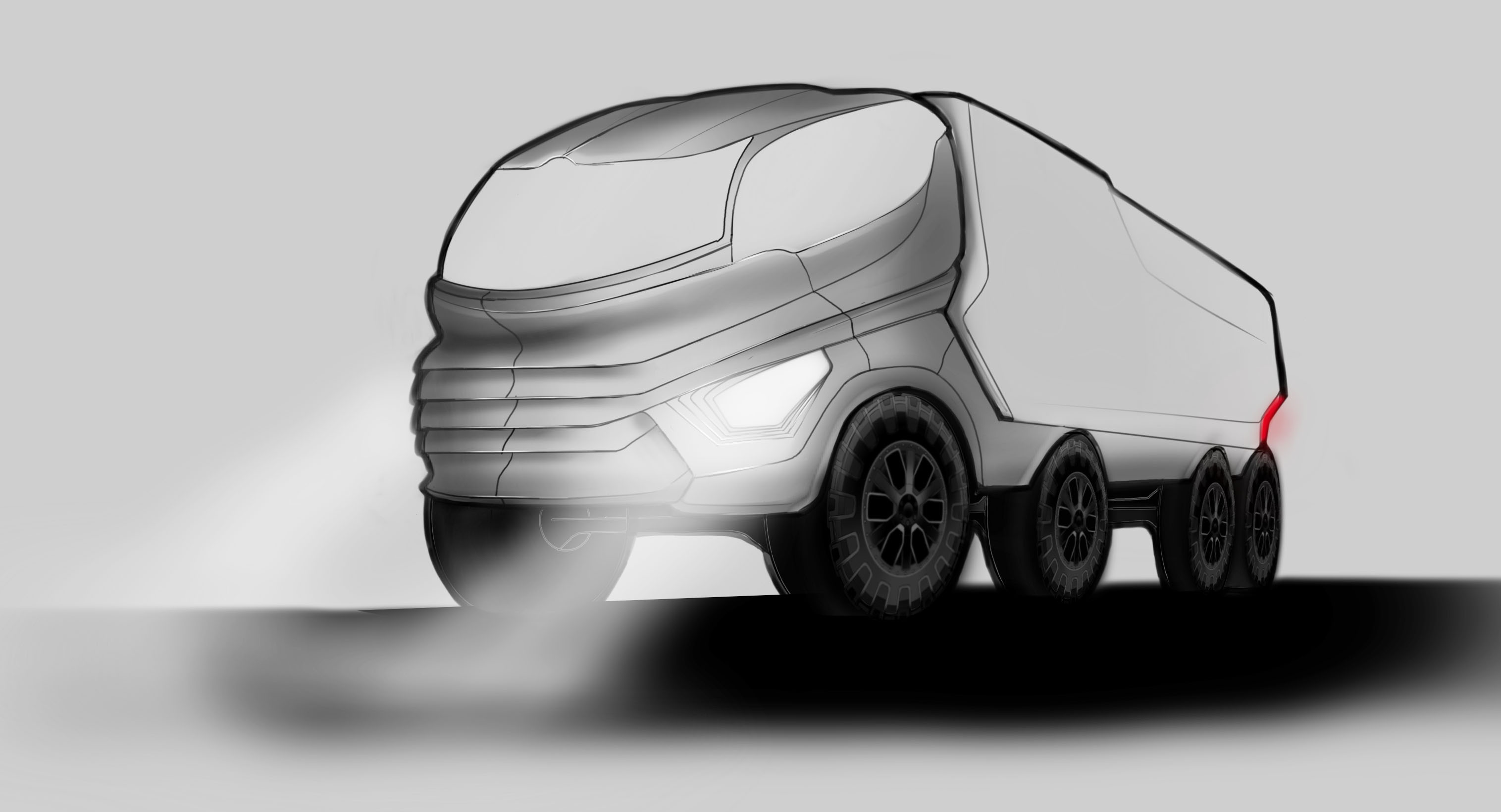 Truck inspired by Rhinoceros