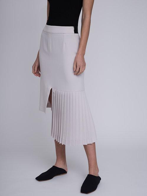 Plisse detail skirt