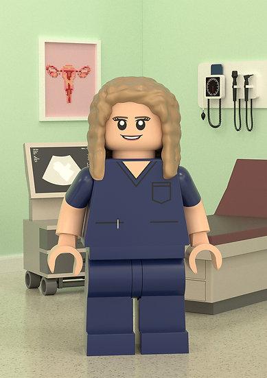 Custom portrait - Obstetrician/Gynecologist/ OB Nurse/Ultrasound tech gift