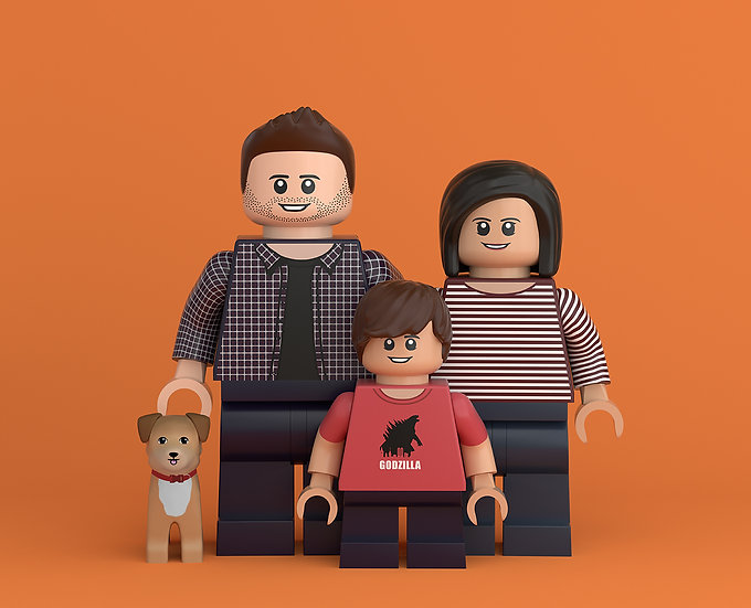 3 person custom portrait featuring you and your family/friends!