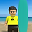 Thumbnail: Surfer custom portrait gift featuring you/a family member/friend