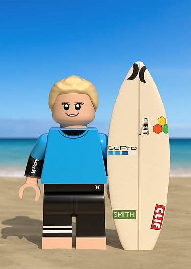Surfer custom portrait gift featuring you/a family member/friend