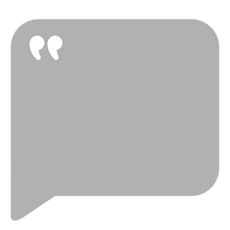 Speech bubble to frame a review.