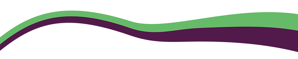 Green and purple swoosh design as divider between two sections.