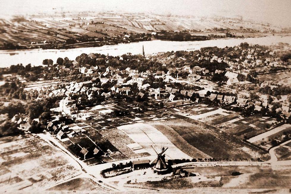 Historische Luftaufnahme der Lauenburger Mühle