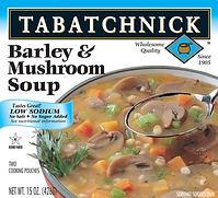 Tabatchnick Fine Foods Barley and Mushroom soup box
