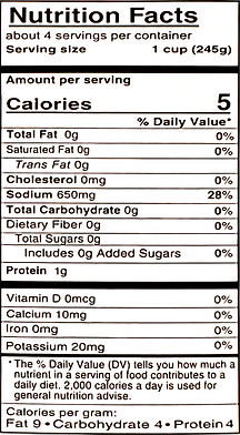 Shelf Stable Beef Broth - Nutritional In