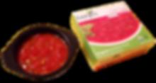 Benjes Naturals Tomato Basil soup next to it's  box