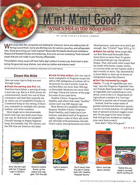 Nutrition Action Magazine third page
