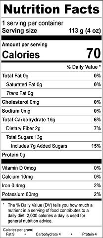 Berry Blast Nutrition info