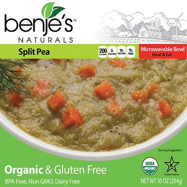 Benje's Natural Split Pea Soup box