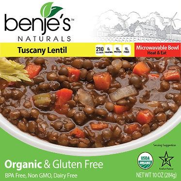 Benje's Naturals Tuscany Lentil Soup box