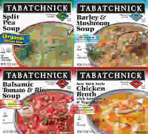 4 quadrant photo of healthy tabatchnick soups