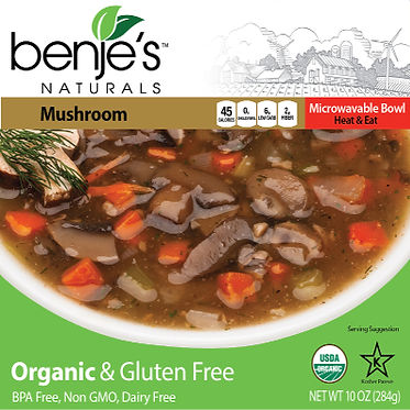 Benje's Naturals Mushroom Soup box