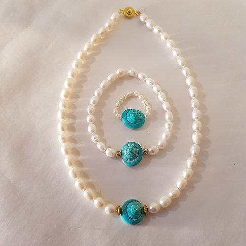 Perlenschmuckset 3-teilig