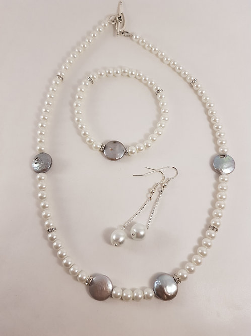 Perlenschmuckset mit Abalon Shell Perlen