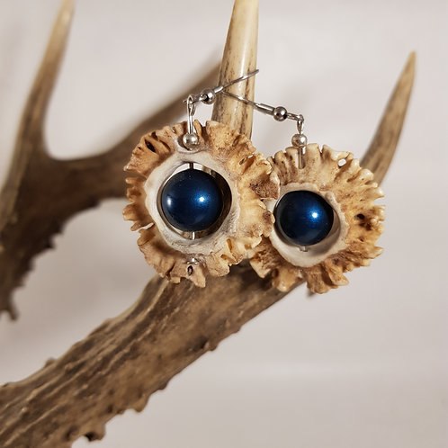 Rehrosen Hänger mit blauer Perle