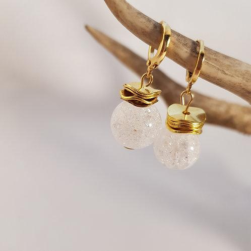 Bergkristall Ohrschmuck Gold