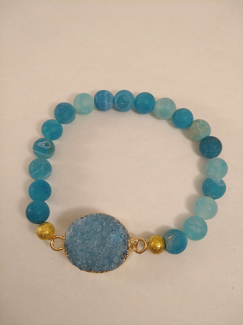 BLUE SEA Drusenachat Armband