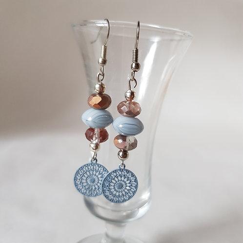 BLUE Ohrhänger mit Mandala