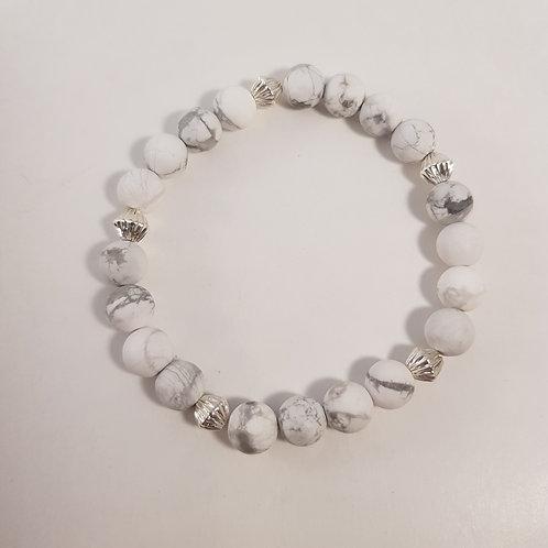 White Perlenarmband