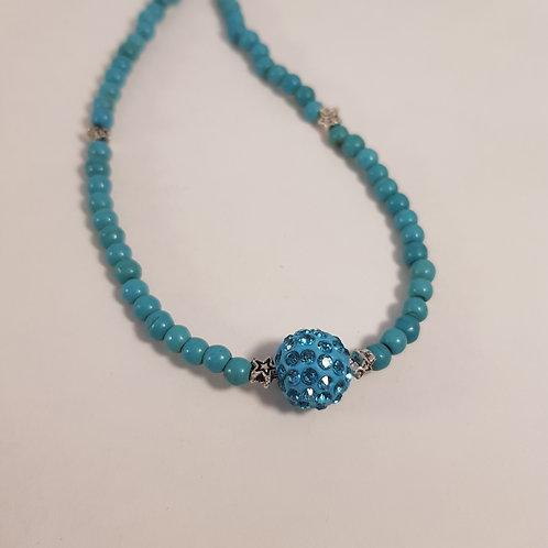 Shamballa Perlenkette türkis