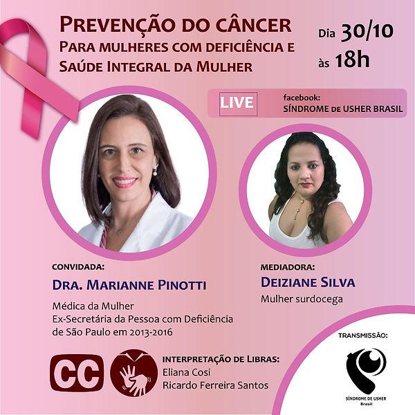 Prevenção de câncer para mulher PcDs