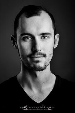Portrait studio homme