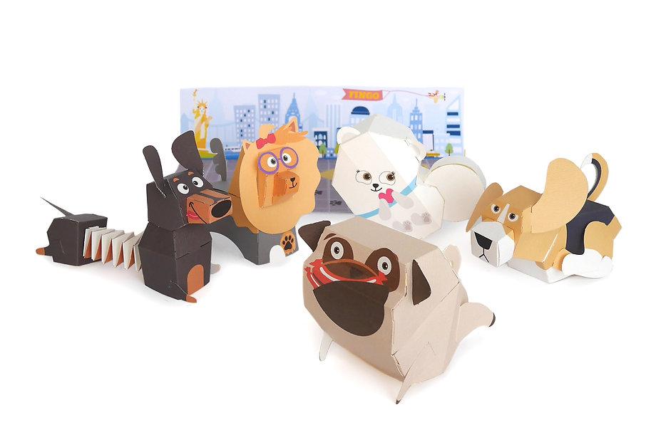 종이장난감, 종이강아지장난감, 강아지, 강아지장난감, 종이, 페이퍼토이, 아이장난감