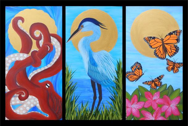 PNW wildlife 3 piece series
