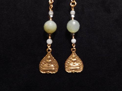 Buddha Gemstone Earrings