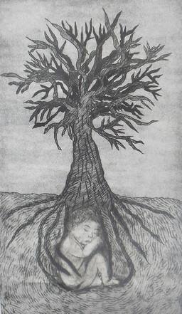 Tree of Life Intaglio Print