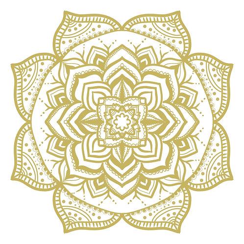 Golden Flower Mandala