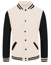 baseball jacket_02_Black sleeve Beige bo